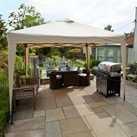 Leisuregrow Hamilton 3 Meter Pop-Up Garden Gazebo - Cream (GAZ12CR)