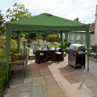Leisuregrow Hamilton 3 Meter Pop-Up Garden Gazebo - Forest Green (GAZ12FG)