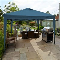 Leisuregrow Hamilton 3 Meter Pop-Up Garden Gazebo - Navy Blue (GAZ12NB)