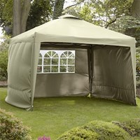 Leisuregrow Hamilton 3 Meter Pop-Up Garden Gazebo Side Walls - Cream (GAZS12CR)