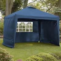 Leisuregrow Hamilton 3 Meter Pop-Up Garden Gazebo Side Walls - Navy Blue (GAZS12NB)