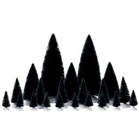 Lemax Christmas Village - Assorted Fir Trees Accessories - Set of 21 (74691)
