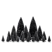 Lemax Christmas Village - Assorted Pine Trees Accessories - Set of 21 (34968)