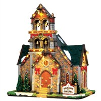Lemax Christmas Village - Hillside Bell Chapel Building - 4.5v Adapter (45729)