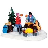 Lemax Christmas Village - Campfire Fondue Battery Operated Table Piece (34625)
