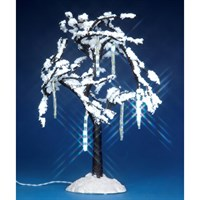 Lemax Christmas Village - Cascading Icicle Tree Accessory - Battery Operated (34642)
