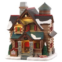 Lemax Christmas Village - Chestnut Cabin Building with Adaptor (05641-UK)
