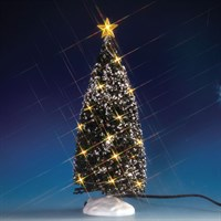 Lemax Christmas Village - Clear Light Evergreen Tree Large Accessory - Battery Operated (74264)