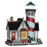 Lemax Christmas Village - Crest Point Lighthouse Building - Battery Operated (65094)