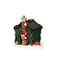Lemax Christmas Village - Decorated Light Doghouse Figurine (02808)