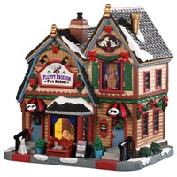 Lemax Christmas Village - Fluffy Friends Pet Salon Battery Operated LED Building (95489)