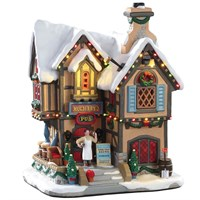 Lemax Christmas Village - Mulberry's Pub Building with 4.5V Adapter (95469-UK)