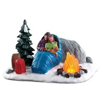 Lemax Christmas Village - Night Time Campfire Battery Operated Table Piece (84361)