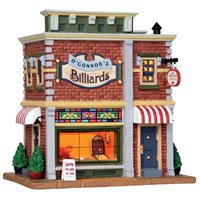 Lemax Christmas Village - O'Connor's Billiards Building - Battery Operated (25417)