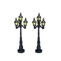 Lemax Christmas Village - Old English Street Lamp Accessory - Set Of 2 - Battery Operated (34902)