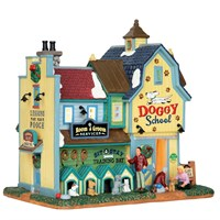 Lemax Christmas Village - Rex & Spots Doggy School Building - Battery Operated (65109)