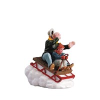 Lemax Christmas Village - Sledding With Gramps Figurine (52084)