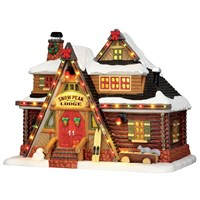 Lemax Christmas Village - Snow Peak Lodge Building with 4.5V Adapter (55924)