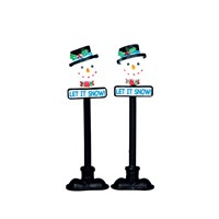 Lemax Christmas Village - Snowman Street Lamp Accessory - Set of 2 - Battery Operated (34640)