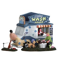 Lemax Christmas Village - Wally's Pet Wash Wagon Table Piece - Set of 3 (63279)