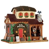 Lemax Christmas Village - Ye Olde Barrel & Cask Makers Building - Battery Operated (55959)