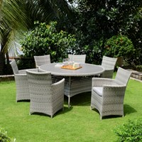 Lifestyle Garden Aruba 6 Seat Outdoor Garden Furniture Dining Set