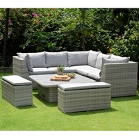 Lifestyle Garden Aruba Casual Corner Dining Bench Set