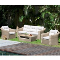 Lifestyle Garden Martinique 5 Seat Outdoor Garden Furniture Lounge Set