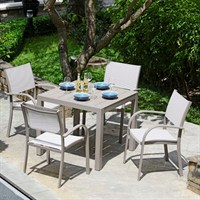 Lifestyle Garden Morella 4 Seat Square Outdoor Garden Furniture Dining Set