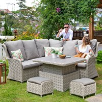 Lifestyle Garden Samoa Casual Corner Outdoor Garden Furniture Dining Set