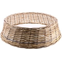 Longacres Woven Wicker Round Large Christmas Tree Skirt - Natural