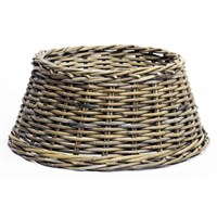 Longacres Woven Wicker Round Christmas Tree Skirt - Natural