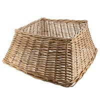 Longacres Woven Wicker Square Christmas Tree Skirt - Natural
