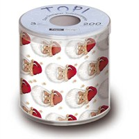 Loo Rolls - Loo Roll A Kiss From Santa 3 Ply, 200 Sheet Christmas Roll (PD00095)