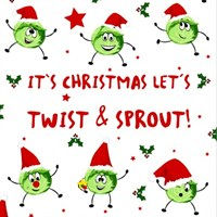 Loo Rolls - Twist And Sprout 3 Ply, 200 Sheet Christmas Roll (PD00236)