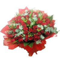 Love Actually 100 Red Roses Hand Tied Valentine's Day Bouquet