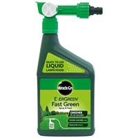Miracle-Gro EverGreen Fast Green Spray & Feed Lawn Food 1L (119665)