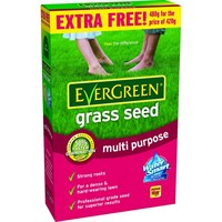 EverGreen Multi Purpose Lawn Grass Seed 14m2 & 15% Free (018956)