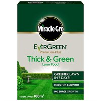 Miracle-Gro Evergreen Premium Plus Thick & Green Lawn Food 100m (119678)