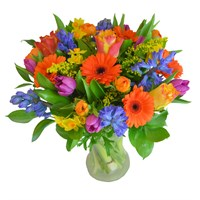 Mother's Day Radiant Orange Spring Floral Hand Tied Bouquet