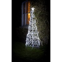 Noma 1.8m Twinkling Spiral Tree with 410 White LED Christmas Lights (2114021)