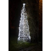 Noma 2.5m Twinkling Spiral Tree with 730 White LED Christmas Lights (2114023)