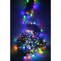 Noma 280 LED Multi-Colour Multi-Function Cluster Christmas Lights with Green Cable (2515015GM)