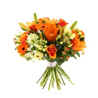 Orange Handtied Bouquet - Premium