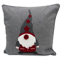 Peggy Wilkins Christmas Elf Christmas Grey & Multi Complete Cushion (5031/310FP/.34)