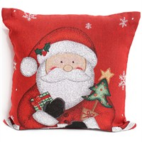 Peggy Wilkins Super Santa Christmas Multi Complete Cushion (3760/310/001)
