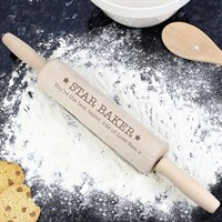 Personalised Baker Rolling Pin (P0111A63) - Direct Dispatch