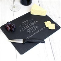 Personalised Cheese Makes Life Better... Slate Cheeseboard (P010568) - Direct Dispatch