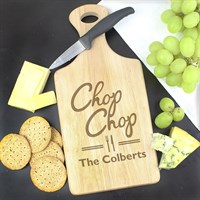 Personalised 'Chop Chop' Large Paddle Chopping Board (P0111A83) - Direct Dispatch