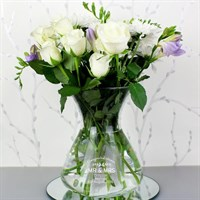 Personalised Classic Glass Vase (P0107D35) - Direct Dispatch